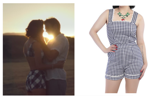 Wildest Dreams gingham playsuit matching set